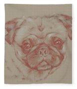 Pug Square Fleece Blanket