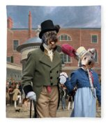 Pumi Art Canvas Print - Settling Day At Tattersalls Fleece Blanket