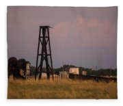 Pump Jack Golden Hour Fleece Blanket