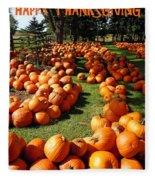 Pumpkin - Happy Thanksgiving Fleece Blanket