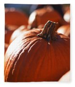 Pumpkin Patch Farm Fleece Blanket