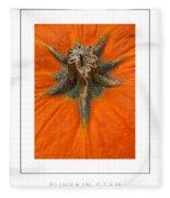 Pumpkin Stem Poster Fleece Blanket