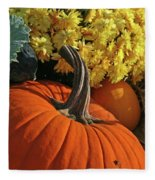 Pumpkin Still Life  Fleece Blanket