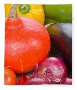 Pumpkin With  Vegetables Fleece Blanket