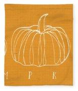 Pumpkins- Art By Linda Woods Fleece Blanket