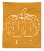 Pumpkins- Art By Linda Woods Fleece Blanket