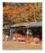 Pumpkins For Sale Fleece Blanket