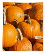 Pumpkins Pile 1 Fleece Blanket