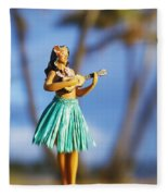 Punaluu, Hula Doll Fleece Blanket