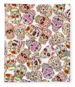 Punk Rock Pattern Fleece Blanket