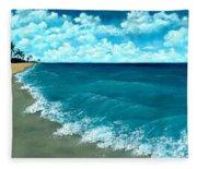 Punta Cana Beach Fleece Blanket