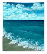 Punta Cana Beach Fleece Blanket