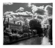Punting, Cambridge. Fleece Blanket