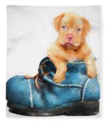 Pup In A Shoe Fleece Blanket