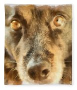 Puppy Eyes Fleece Blanket