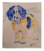 Puppy Stare Fleece Blanket