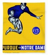 Purdue V Notre Dame 1947 Program Fleece Blanket