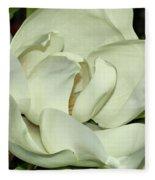 Pure White Fragrant Beauty Fleece Blanket