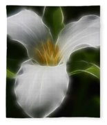 Pure White Trillium Fleece Blanket