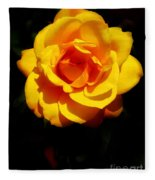 Pure Yellow Petals Fleece Blanket