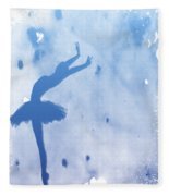 Purple Ballerina Silhouette Fleece Blanket