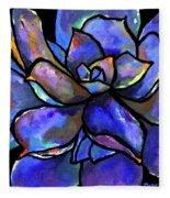Purple Agave Fleece Blanket