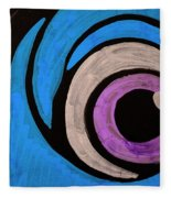 Purple And Blue Eyeball In Saint Augustine Florida Fleece Blanket