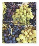 Purple And Green Grapes Fleece Blanket
