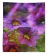 Purple And Yellow Morning 9121 Idp_2 Fleece Blanket