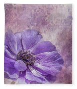 Purple Anemone Art Fleece Blanket