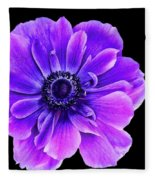 Purple Anemone Flower Fleece Blanket