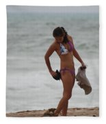 Purple Bikini Fleece Blanket