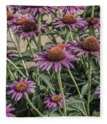 Purple Blooms Fleece Blanket