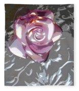 Purple Blossom Fleece Blanket