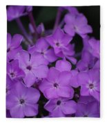 Purple Blossoms Fleece Blanket