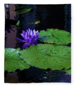 Purple Blue  Lily Fleece Blanket