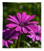 Purple Bouquet Fleece Blanket