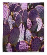 Purple Cacti Fleece Blanket