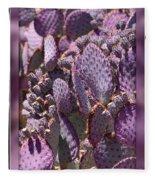 Purple Cactus Canvas Fleece Blanket