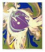 Purple Calla Lilly Fleece Blanket