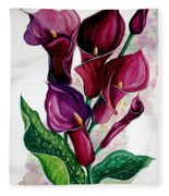 Purple Callas Fleece Blanket