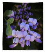 Purple Cascading Floral Art Fleece Blanket