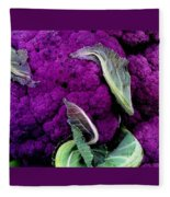 Purple Cauloflower Fleece Blanket