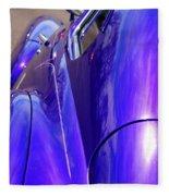 Purple Chevrolet Fleece Blanket
