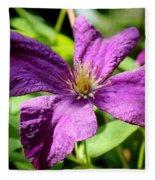 Purple Climber Fleece Blanket