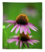 Purple Cone Flower Fleece Blanket