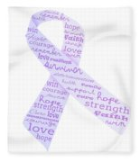 Purple Courage Fleece Blanket