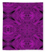 Purple Crossed Arrows Abstract Fleece Blanket