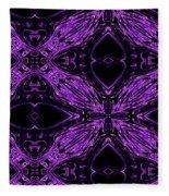 Purple Crosses Connecting Fleece Blanket