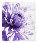 Purple Dahlia Floral Fleece Blanket